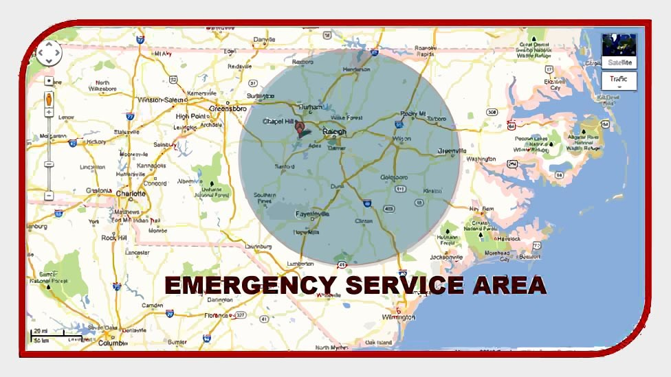 emergency services area map